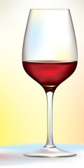 vector red wine glass