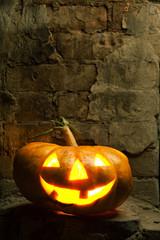 halloween pumpkin in night