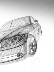 Fototapeta premium widok z przodu nowoczesnych modeli samochodów