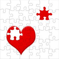 Jigsaw heart