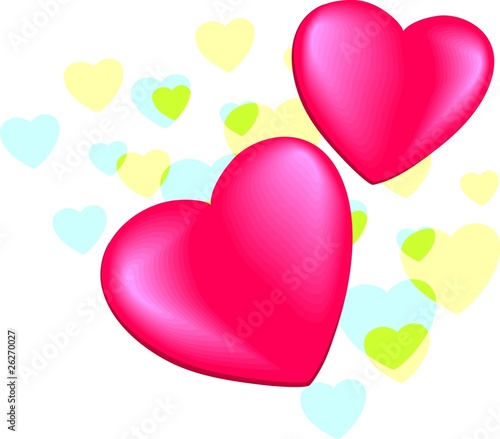 Red Heart In A Border Of Love Symbols Stock Photo And Royalty Free