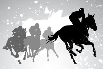 horse races. vector