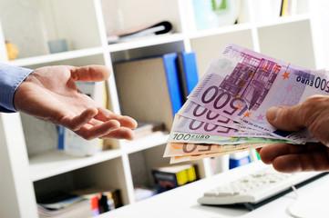 commercio, pagamento in contanti