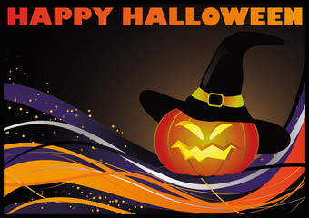 Happy Halloween card, vector