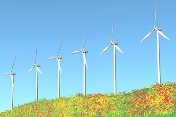 Wind Turbines animation loop