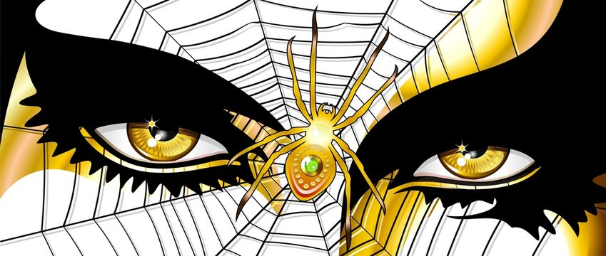Occhi Donna Ragno-Spider Woman's Eyes-Vector