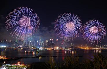 New York City Manhattan fireworks