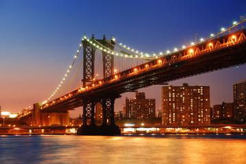 Wall Mural - Manhattan Bridge sunset New York City