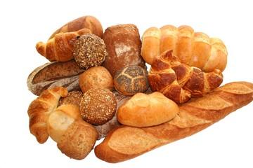 Verschiedene Brote und Gebäck