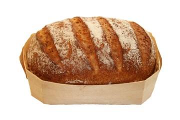 Frisches Brot im Holzkörbchen