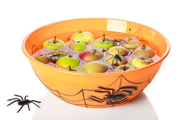 Apple Bobbing At Halloween