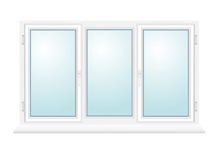closed plastic glass window vector illustration