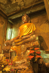 buddha in temple of thailand