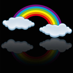 rainbow cloud icon vector