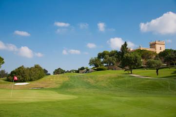 Eighteen hole of a golf course
