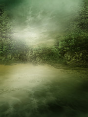Wall Mural - Zielone jezioro
