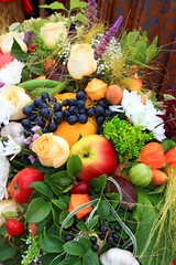 fresh fruits on rural market