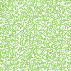 Seamless floral pattern vector background (wallpaper)