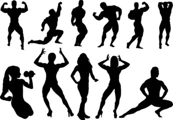 Body building silhouette
