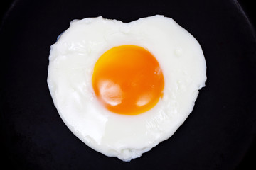 Deurstickers Gebakken Eieren 目玉焼き ハート