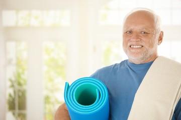 Sporty senior with polyfoam