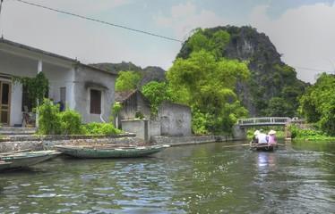 River Village Scene, Vietnam