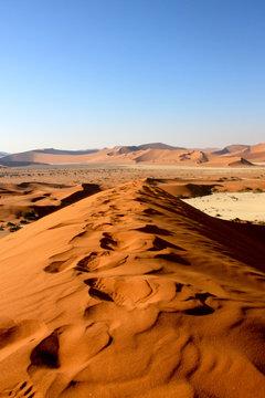 Dune in Namib Desert in Namibia (Soussusvlei)