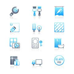 Home repair icons | MARINE series