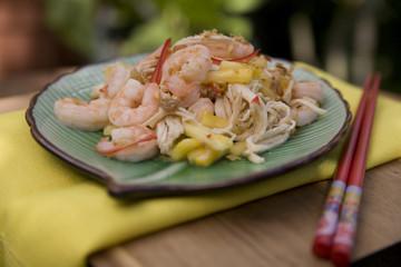 Pad Thai - Thai Food Dishes with Prawns