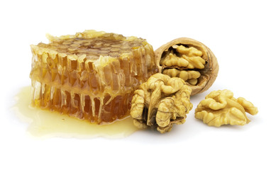 Honeycomb and walnuts