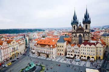 Templo Tyn desde la Torre del Antiguo Ayto (Praga) - Toma 2