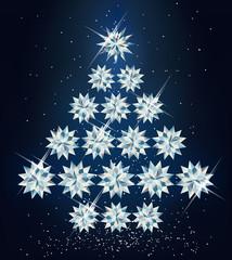 Christmas diamond tree. vector illustration