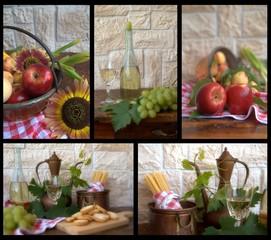 collage con alimenti