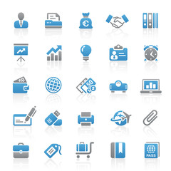 Blue Gray Web  Icons -  Business & Office