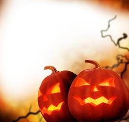 Halloween Pumpkins.Border Design