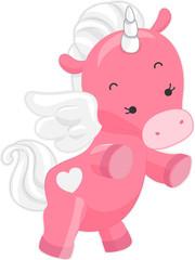 In de dag Pony Cute Pink Unicorn