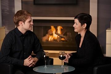 Romantic couple dating