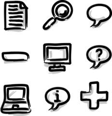 Web icons marker contour misc