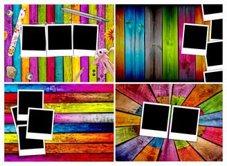 Set of Blank Photos