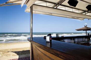 Empty chiringuito beach bar