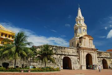 Poster South America Country La Torre del Reloj, Cartagena, Colombia