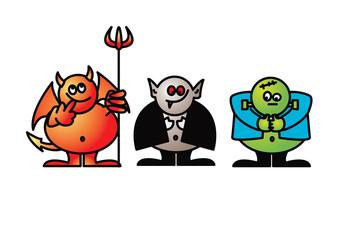 vector caricatures goofy goblins 1