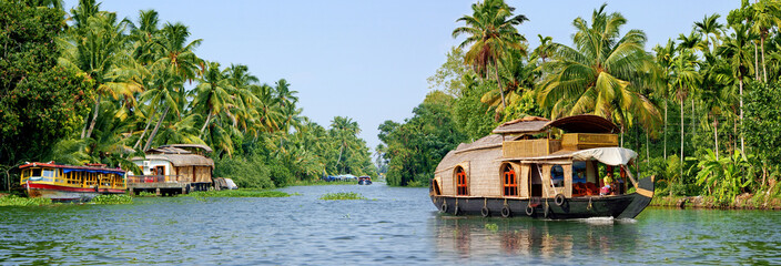 Tuinposter India backwaters du kerala