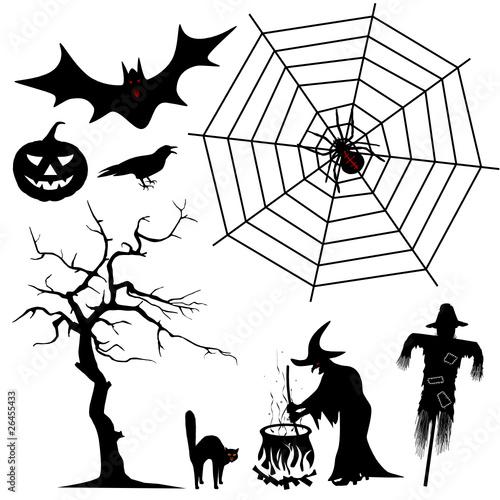 """""""halloween silhouetten  set"""" stockfotos und lizenzfreie"""
