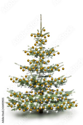 Gold dekorierter weihnachtsbaum stockfotos und lizenzfreie bilder auf bild 26459035 - Dekorierter weihnachtsbaum ...
