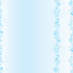 seamless blue floral pattern. Vector space frame