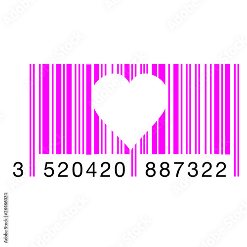 "Image Coeur Barré code barre coeur"" stock image and royalty-free vector files on"