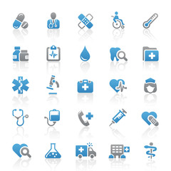 Blue Gray Web Icons - Medicine & Health