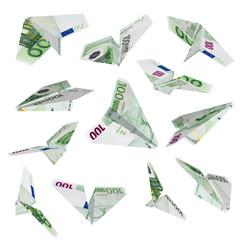 Euro plane flying