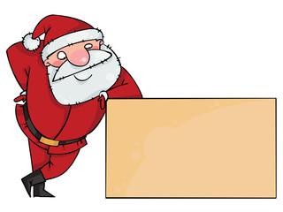 Santa on a blank sign
